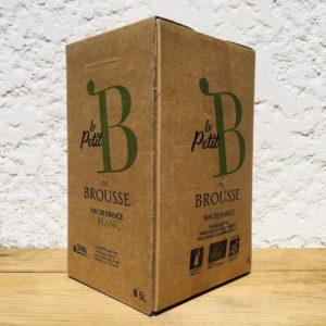 Domaine de Brousse BIB 5L blanc sélection cubi BIO On s'occupe du Vin